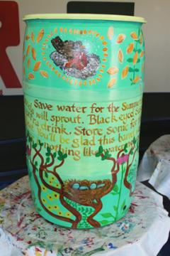 Light Green Barrel w/Nest: Connie Walts, Youth Services Assistant, 2016