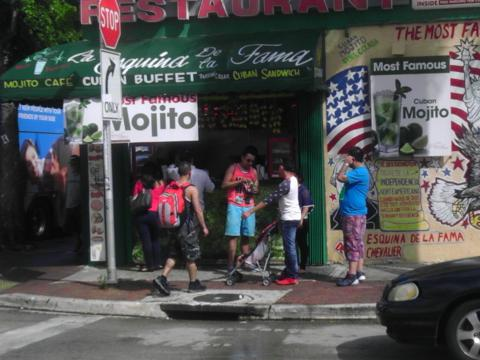 Exterior of a restaurant in Little Havana