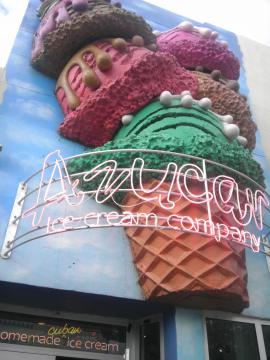 An ice cream shop's exterior in Little Havana