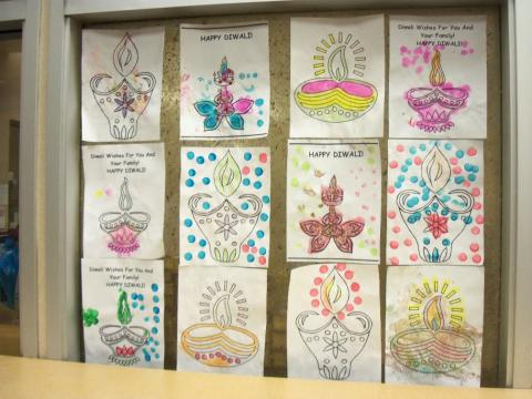 Rangoli artwork celebrating Diwali
