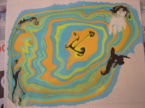 Orange ink print