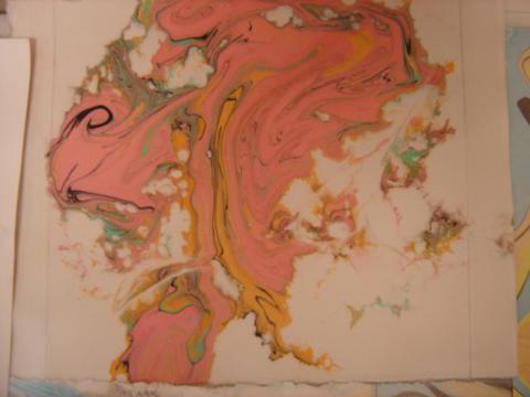 Pink ink print
