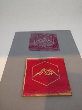 Print created from printmaking workshop