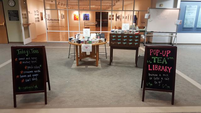 Tea shop set-up