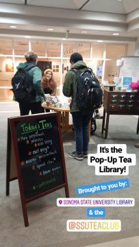 Pop-up Tea Library Instagram story