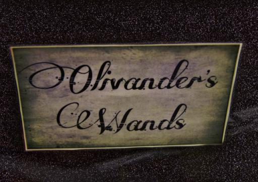 Olivander's wands sign