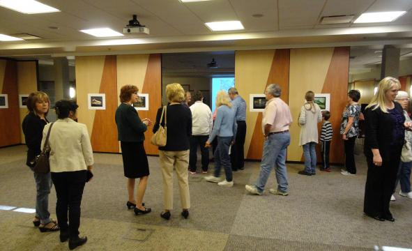 The eight-week series ends in a final art reception where attendees can view the participants' works.