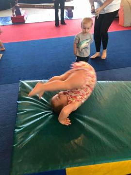 Doing a somersault