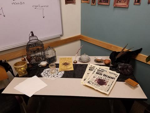 A table with props