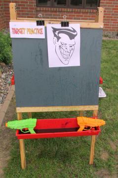 Target for squirt guns