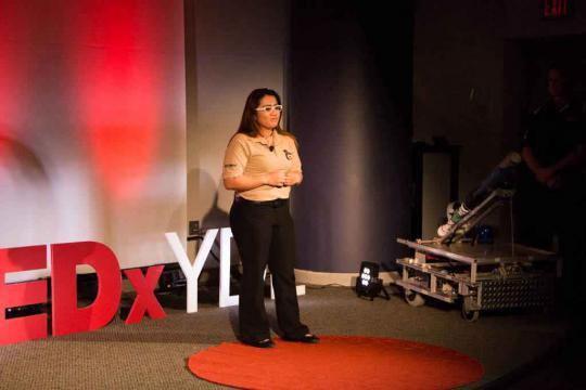 Speaker at TedxYDL