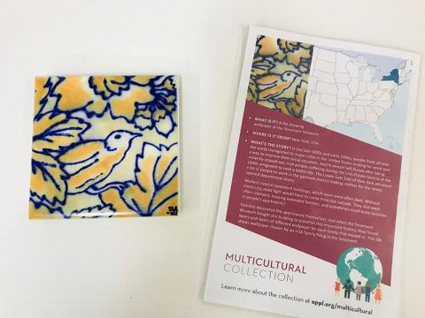 A tile from the multicultural artifact collection