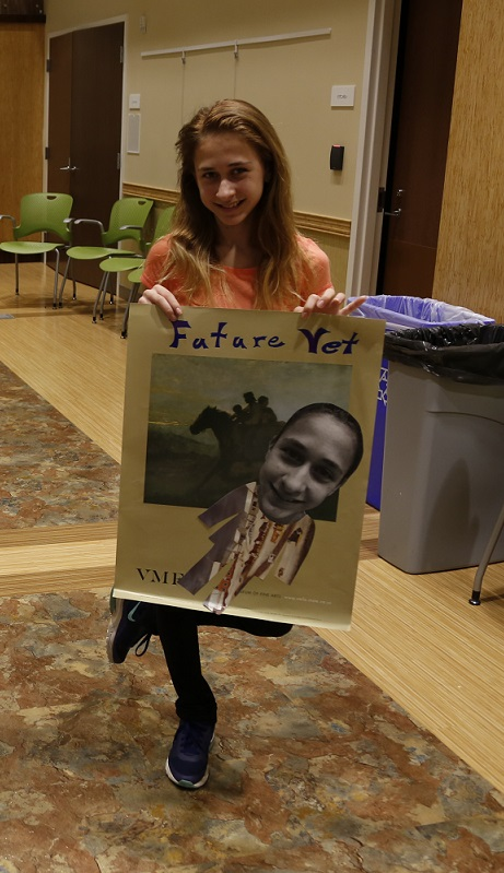The teens in attendance enjoyed being able to envision their future selves through posters.